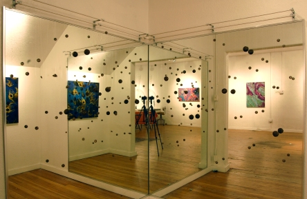 Oil Spill: Dispersal • 2012 • Glass, gouache, and string