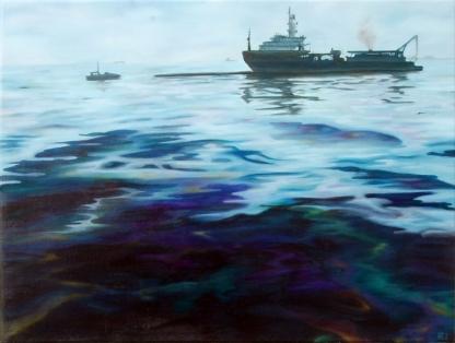 "Spillover • 2012 • Oil on canvas • 18""x24"""