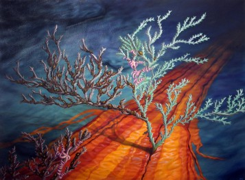 "Sullied Sea Floor • 2012 • Oil on canvas • 30""x40"""