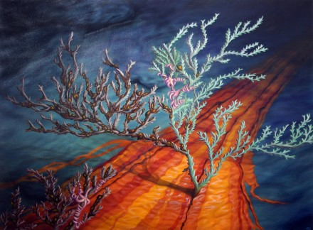 "Sullied Sea Floor • 2012 • Oil on canvas • 30""x40"""