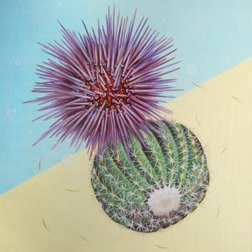 "Desert/Sea: Shield • 2013 • Acrylic on Panel • 12""x12"""