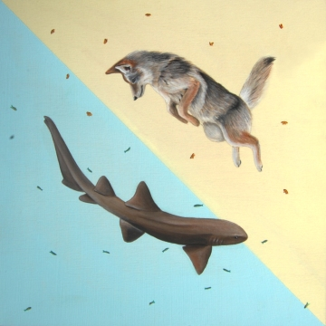 "Desert/Sea: Stealth • 2013 • Acrylic on Panel • 12""x12"""