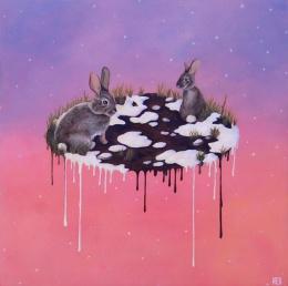 "Snowmelt • 2013 • Acrylic on Panel • 12x12"""