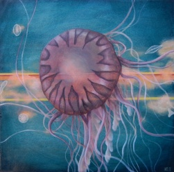 Sunrise Jelly • 2013 • Acrylic on Panel • 12×12″