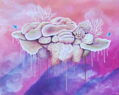 "Bleach • 2014 • Oil on Panel • 16""x20"""